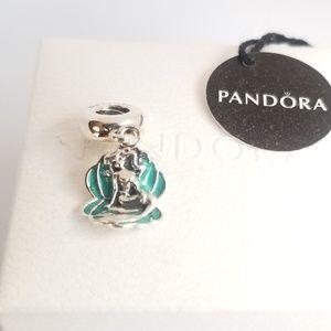 Pandora Disney, Ariel & Sea Shell Dangle Charm